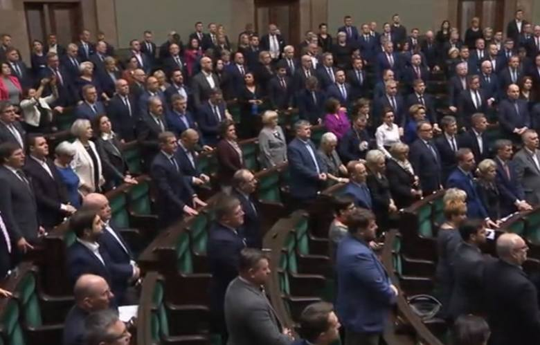 Jarosław Kaczyński oddał hołd Jolancie Szczypińskiej podczas obrad Sejmu