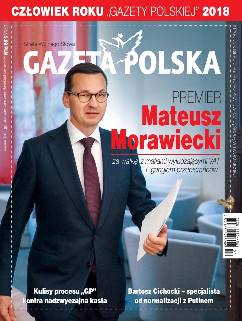 """Premier Morawiecki Człowiekiem Roku """"Gazety Polskiej"""""""