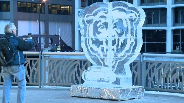 Lodowe rzeźby Chicago Bears