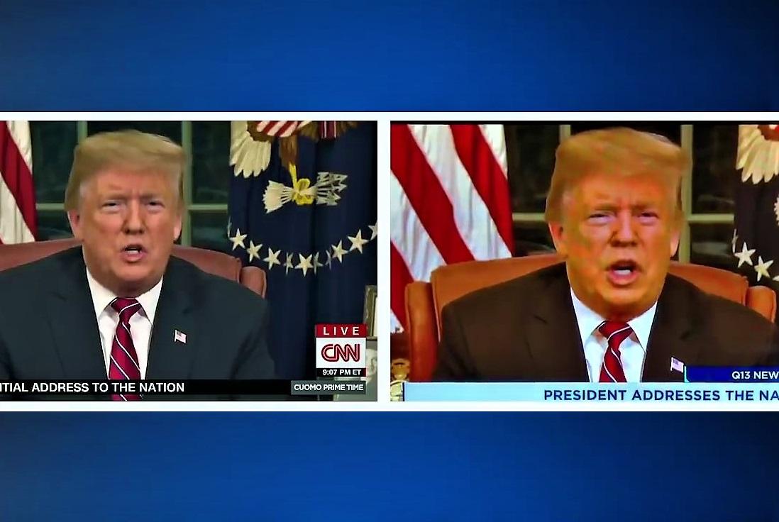 Pomarańczowy Trump w telewizji. Stacja zwolniła montażystę