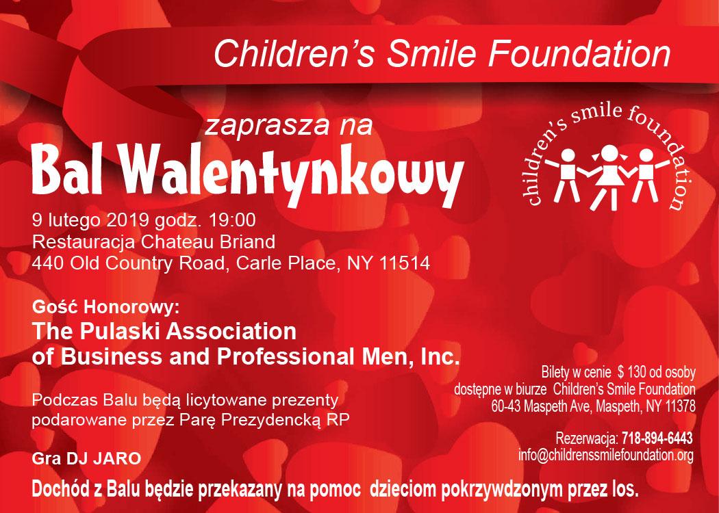 Bal Walentynkowy z Childrens Smile Foundation