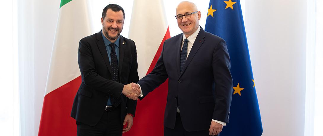 """Ministrowie Salvini i Brudziński o tym """"jak będzie wyglądał nasz wspólny dom europejski"""""""