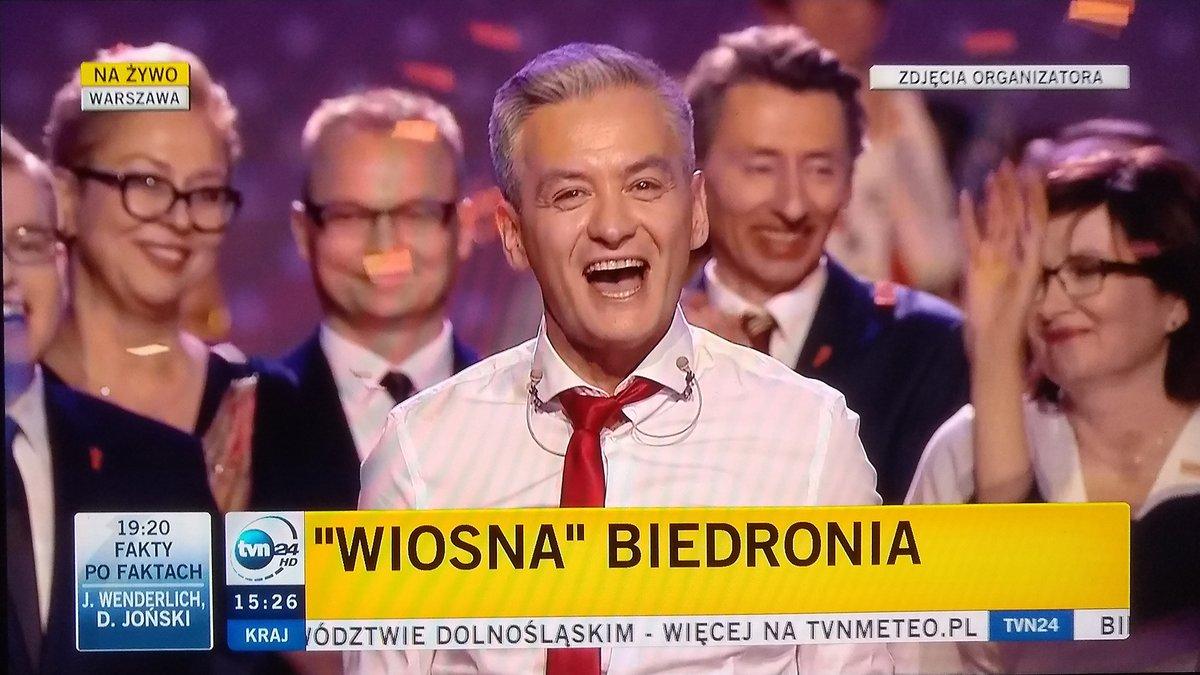 PolskieRadio24.pl: wynajem hali, na której odbyła się konwencja partii R.Biedronia, opłaciła fundacja, a nie partia