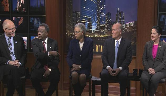 Telewizyjna debata kandydatów na burmistrza Chicago