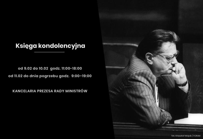 Żałoba narodowa po śmierci Jana Olszewskiego potrwa od północy z czwartku na piątek, do godziny 19-stej w sobotę