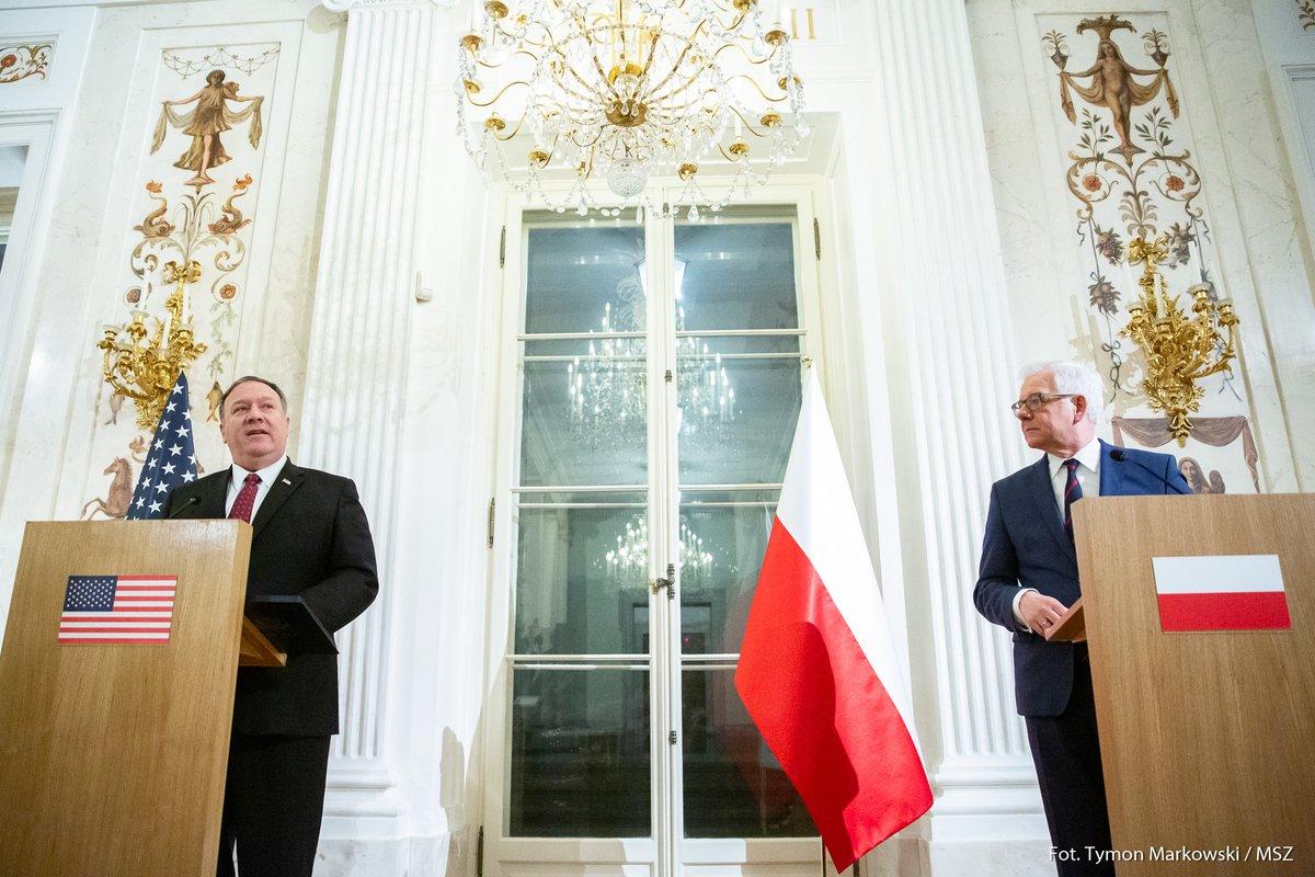 """Spotkanie Pompeo-Czaputowicz """"potwierdziło doskonały stan stosunków między USA i Polską"""""""