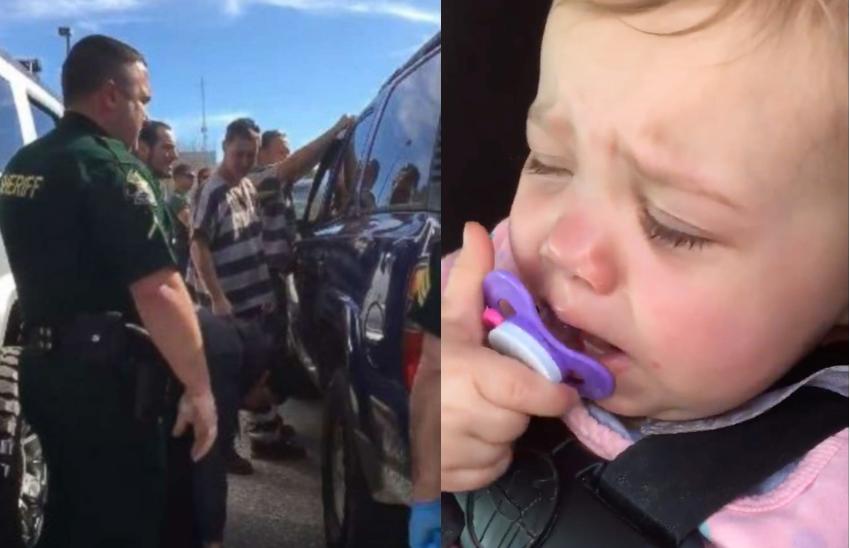 Więźniowie pomogli uratować dziecko zamknięte w samochodzie