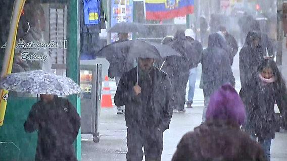 Kolejny atak zimy w Nowy Jorku