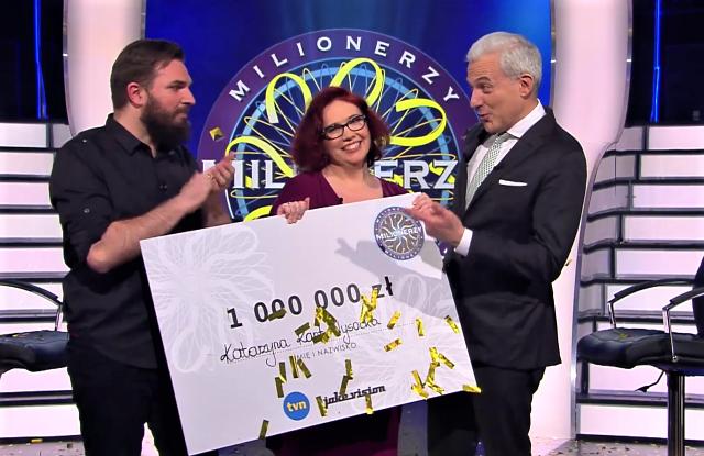 Padła główna wygrana w Milionerach! Katarzyna Kant-Wysocka z Gdańska wygrała milion złotych!