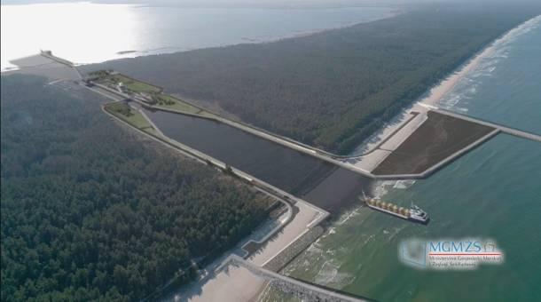 Ministerstwo Gospodarki Wodnej zakończyło etap wylesiania terenu pod przekop mierzei i publikuje specjalną animację