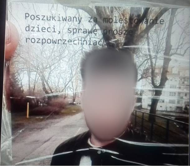 Bydgoszcz: Ktoś rozwiesił plakaty ze zdjęciami 23-latka z informacją, że to pedofil