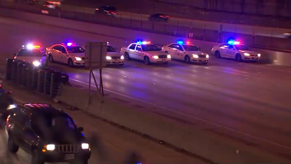 Strzelanina na autostradzie Eisenhower. Dwie osoby ranne