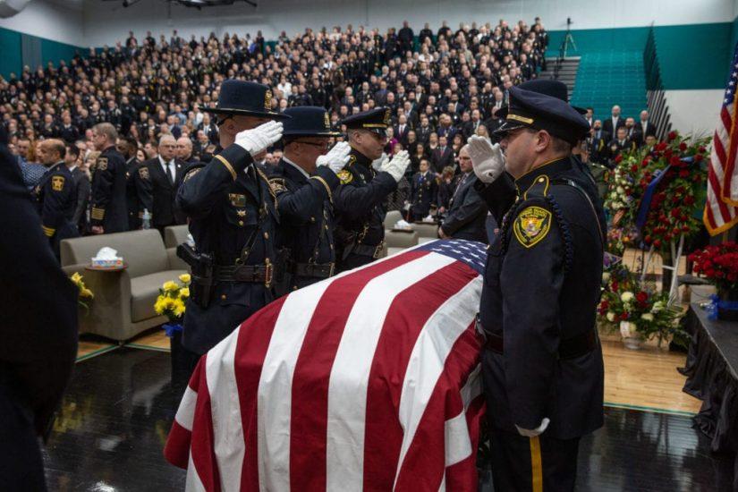 Uroczystości pogrzebowe policjanta Jacoba Keltnera
