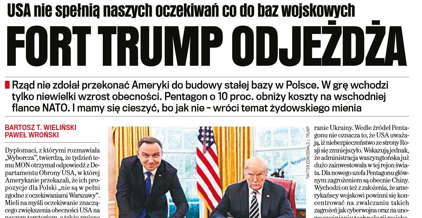 """Soloch w reakcji na publikację """"GW"""": Wciąż trwają rozmowy o zwiększeniu obecności USA w Polsce"""