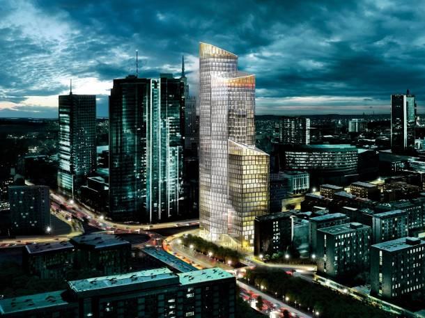 Warszawa: Kaczyński nie dał rady postawić jednego, a firma Skanska zbuduje aż sześć wieżowców. Pierwszy już powstaje…