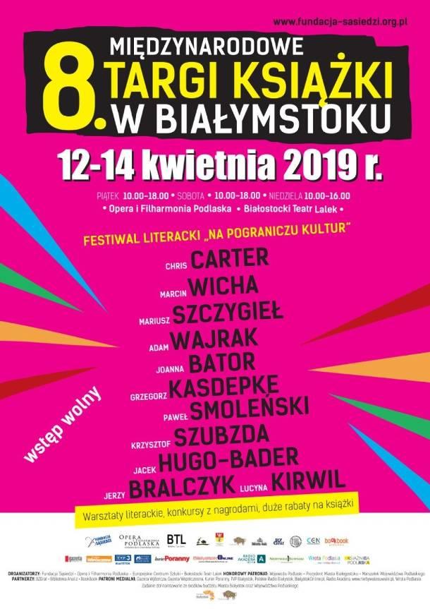 """Białystok: 8. Międzynarodowe Targi Książki. Festiwal literacki """"Na pograniczu kultur"""""""