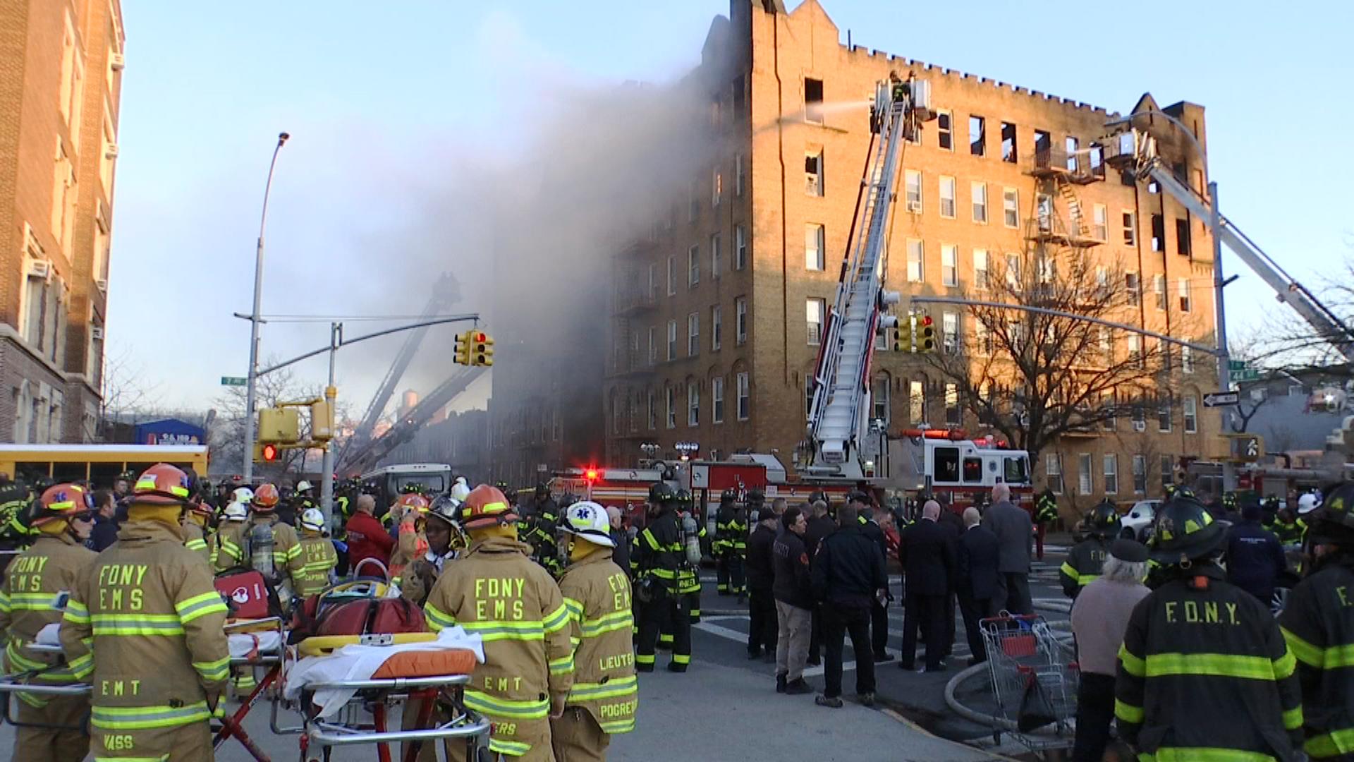 50 osób rannych w pożarze na Brooklynie