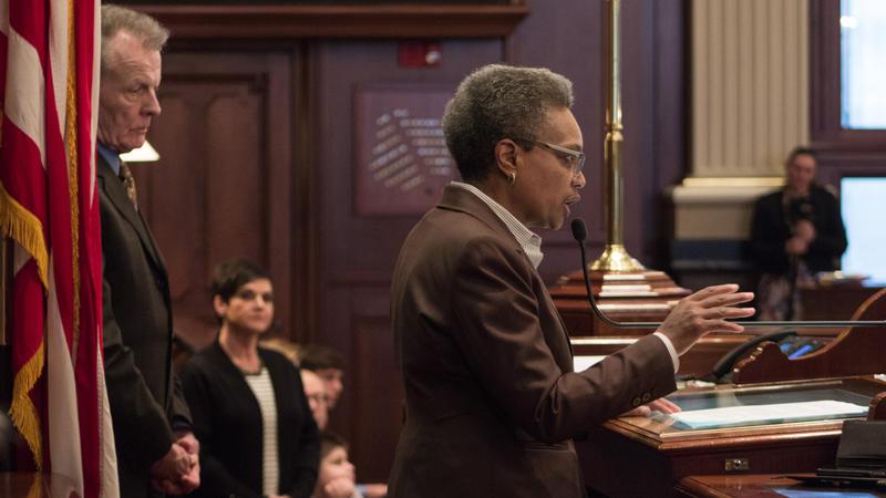 Lori Lightfoot wygłosiła przemówienie w Senacie Illinois