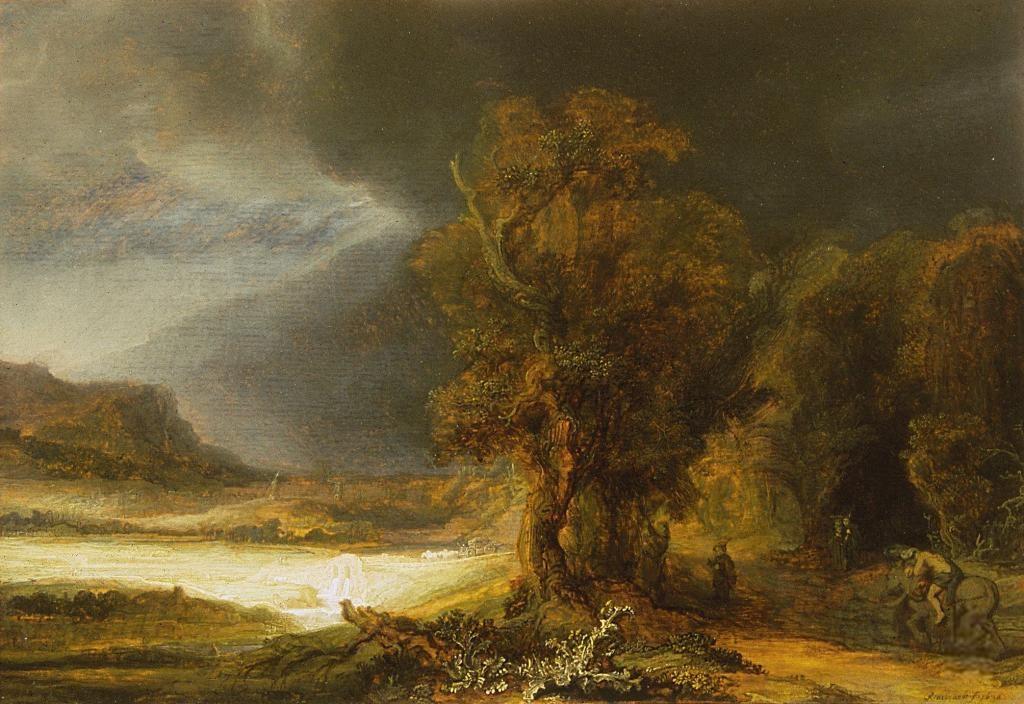 Otwarcie Wystawy Jednego Obrazu Rembrandta Krajobrazu Z