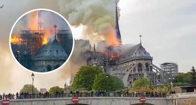 Płonie Katedra Notre – Dame w Paryżu (VIDEO)