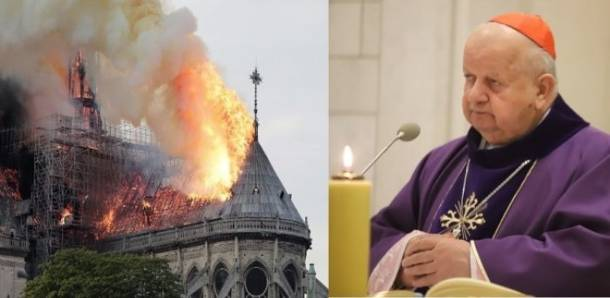Kard. Dziwisz o pożarze Notre Dame: Ta płonąca katedra to symbol płonącej Europy!