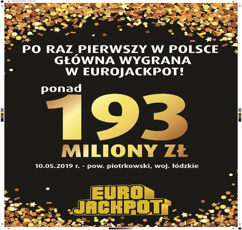 Padła pierwsza w Polsce główna wygrana w Eurojackpot – 193 396 500 zł