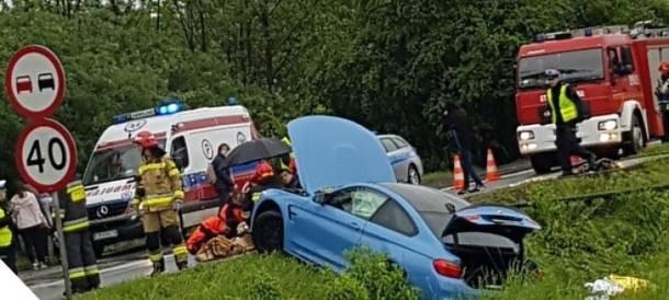 Kraków. Dramatyczny wypadek na Balickiej. BMW wjechało w grupę osób [foto]
