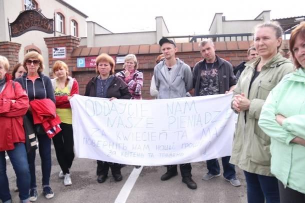 Śląsk: Strajk Ukraińców przed Zakładami Mięsnymi w Pszczynie i Goczałkowicach