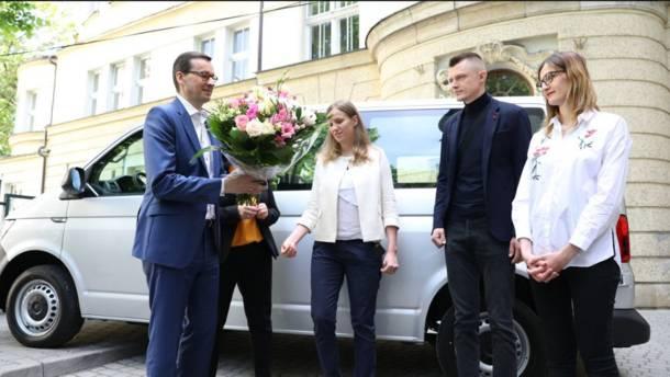 Kraków. Premier Mateusz Morawiecki z wizytą u sześcioraczków