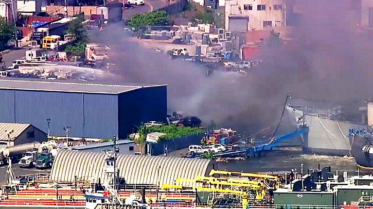 Pożar na Staten Island