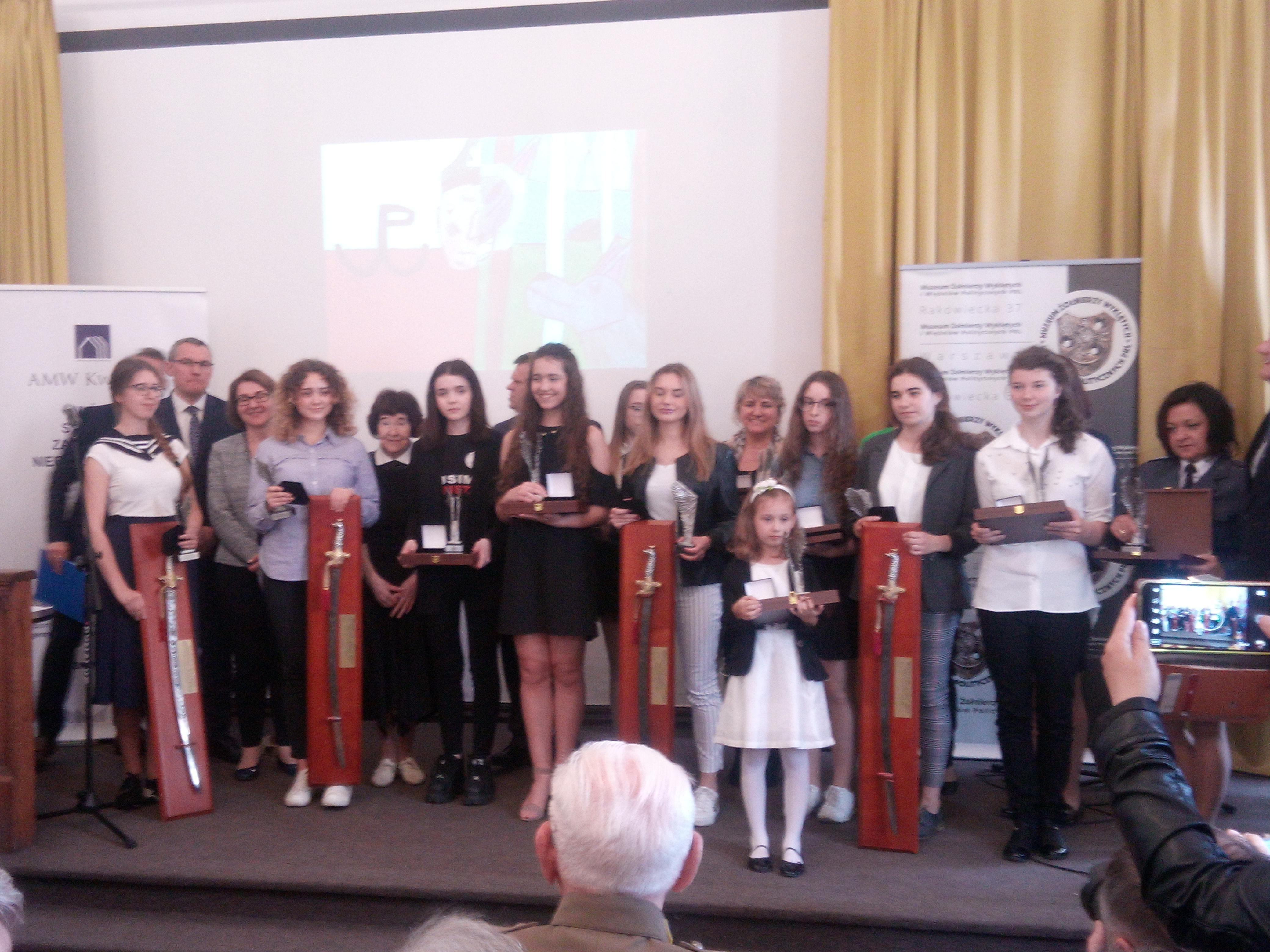 Uroczysta gala rozdania nagród VI Konkursu Historycznego o Żołnierzach Wyklętych