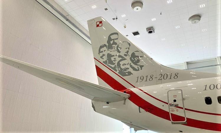 """Rządowy Boeing 737 """"Marszałek Piłsudski"""" przeszedł serwis w bydgoskich WZL-ach"""