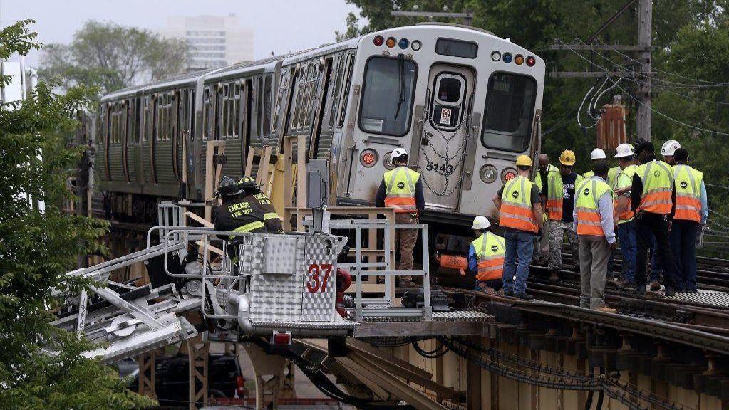 Wykoleił się pociąg CTA Green Line