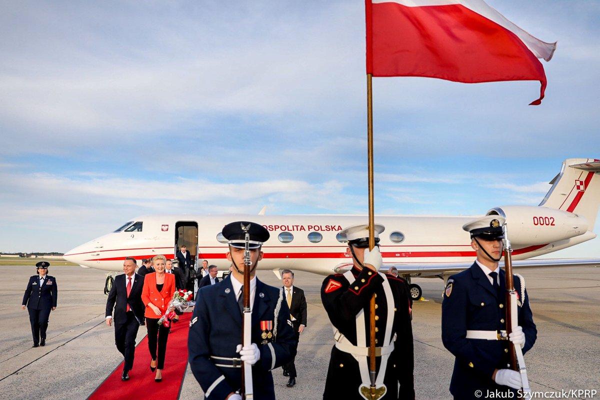 Prezydent Andrzej Duda wraz z Pierwszą Damą są już w Waszyngtonie