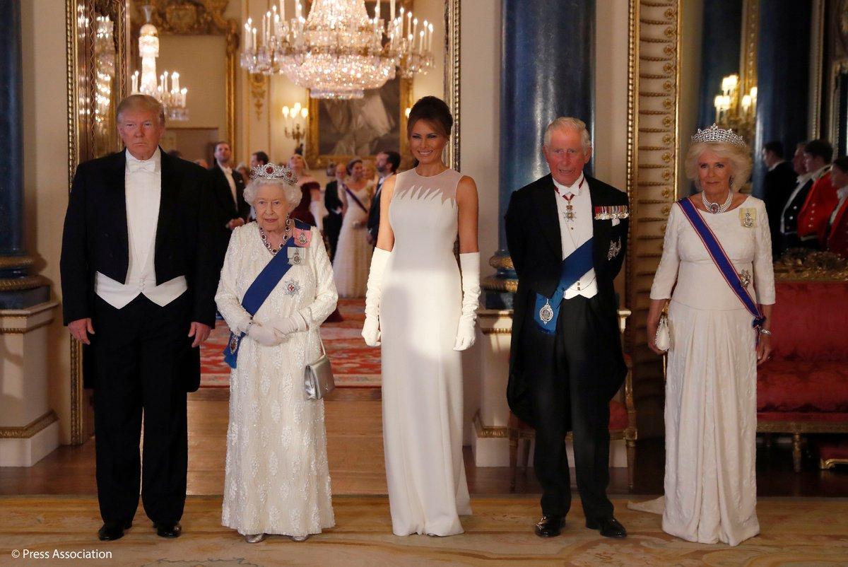 Elżbieta II i Donald Trump o wspólnocie wartości między Wielką Brytanią a USA