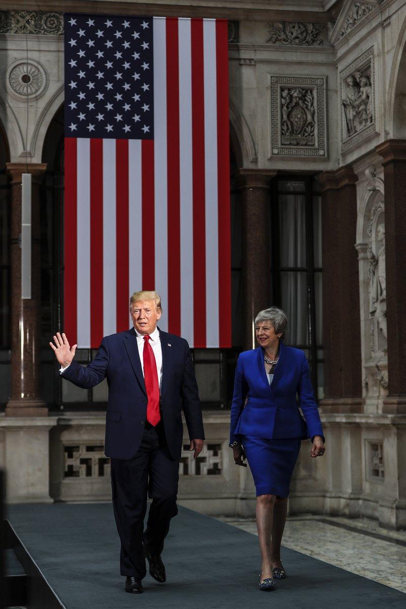 Trump i May rozmawiali o handlu i bezpieczeństwie