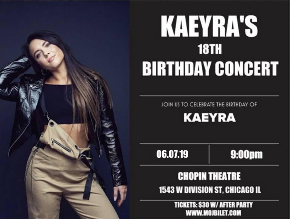 Wspaniały koncert KAYERY z okazji jej 18. urodzin