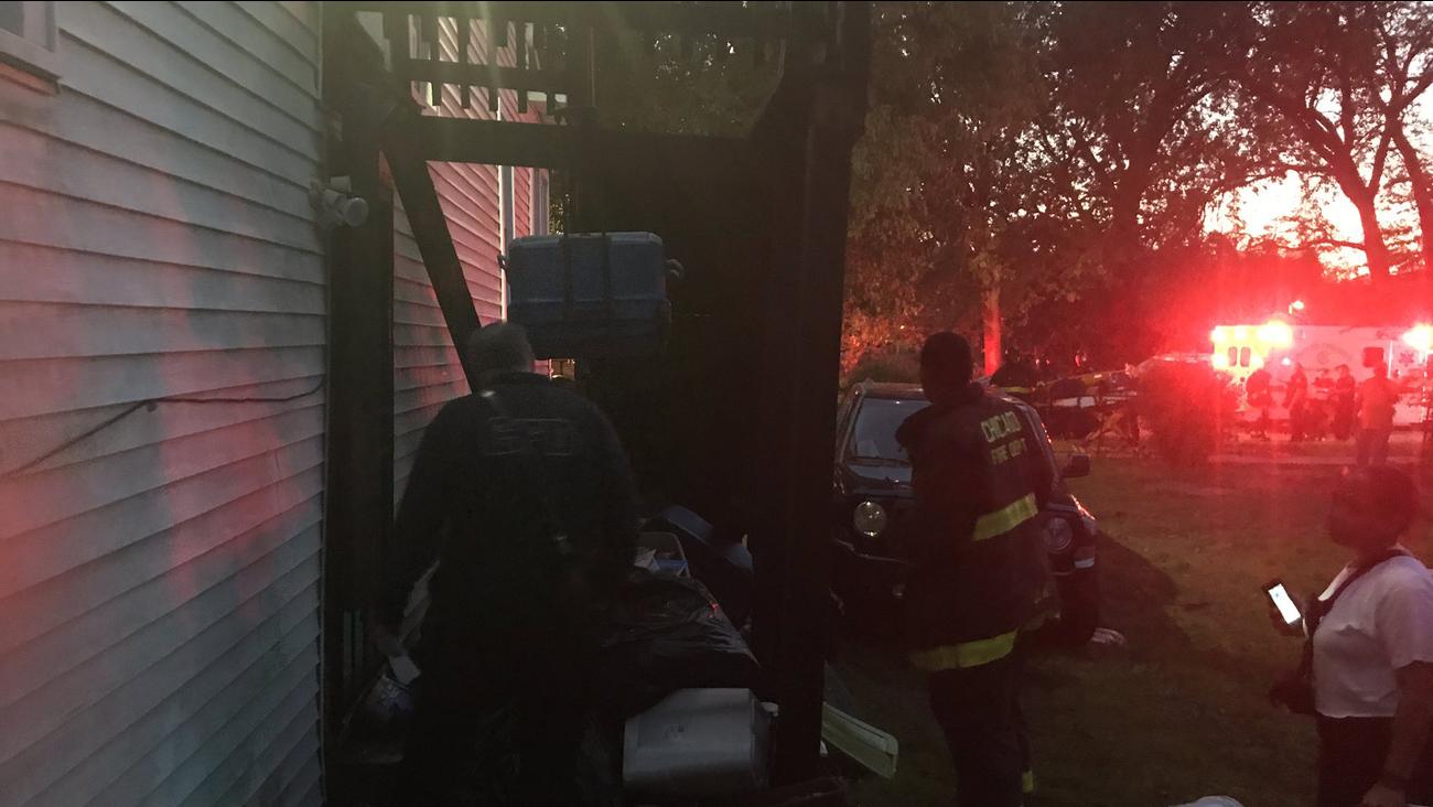 Cztery osoby zostały ranne na skutek zawalenia się werandy