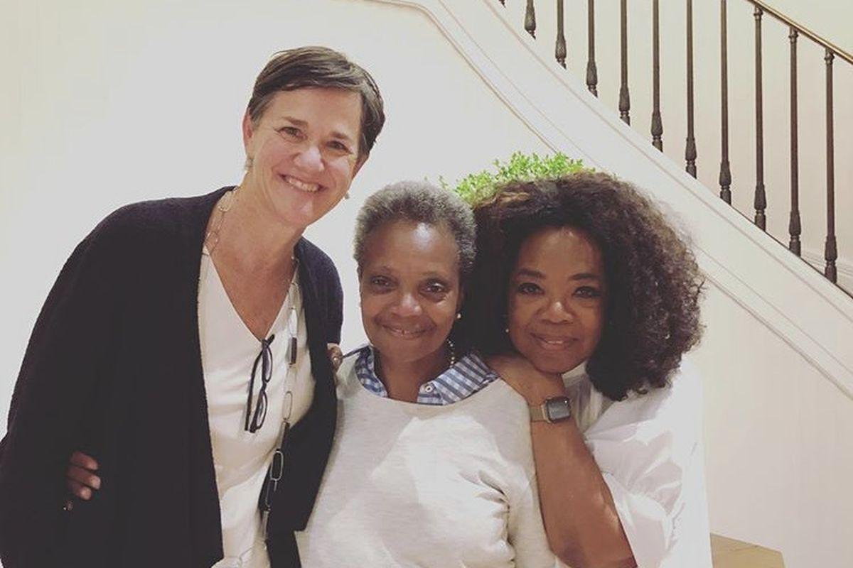 Oprah Winfrey zaprosiła do swojego domu burmistrz Lori Lightfoot