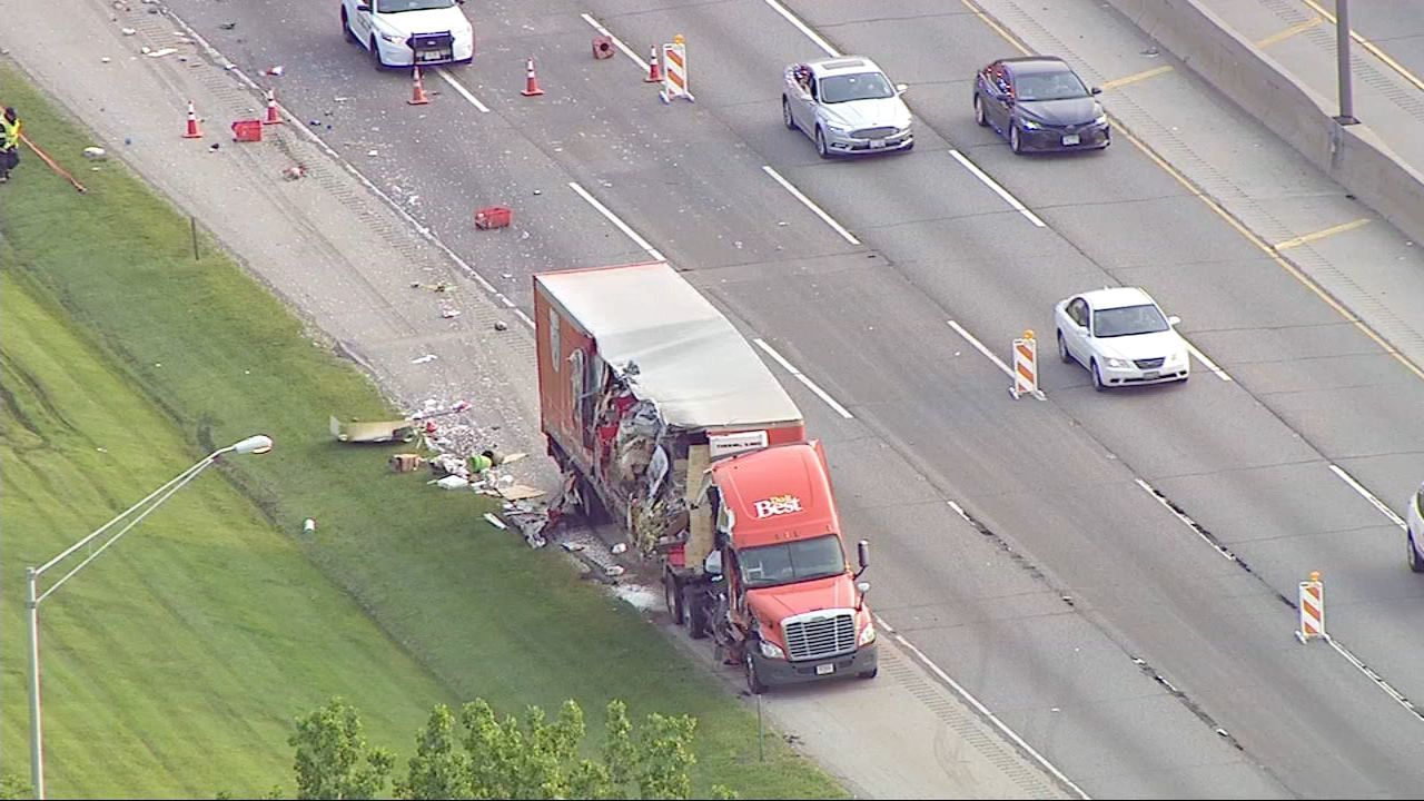 Wypadek na Tri-State. Z ciężarówki wyciekła substancja chemiczna