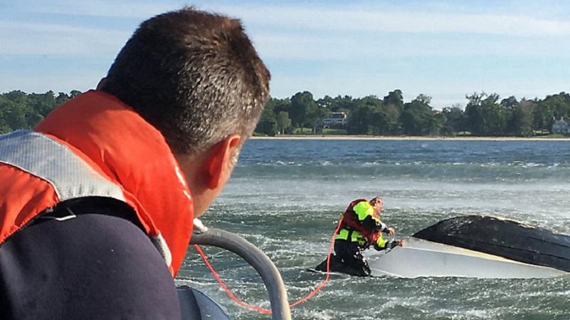Wypadek łódki z pasażerami