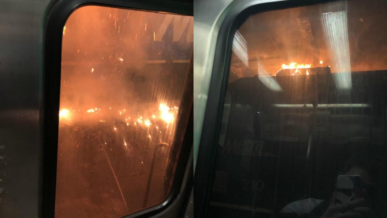 Pożar lokomotywy na Union Station