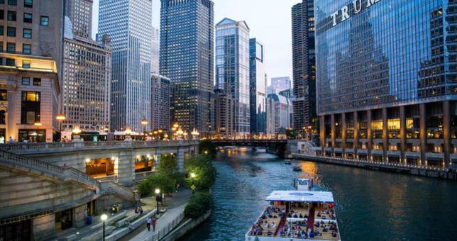 Rejs rzeką Chicago na liście 10 atrakcji turystycznych
