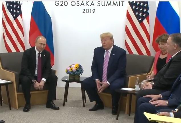 """Osaka: Po spotkaniu Putin-Trump. """"Polepszenie relacji Stanów Zjednoczonych i Rosji leży w interesie obu państw"""""""
