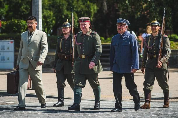 Inscenizacja osadzenia Piłsudskiego w areszcie w Gdańsku [FOTORELACJA]