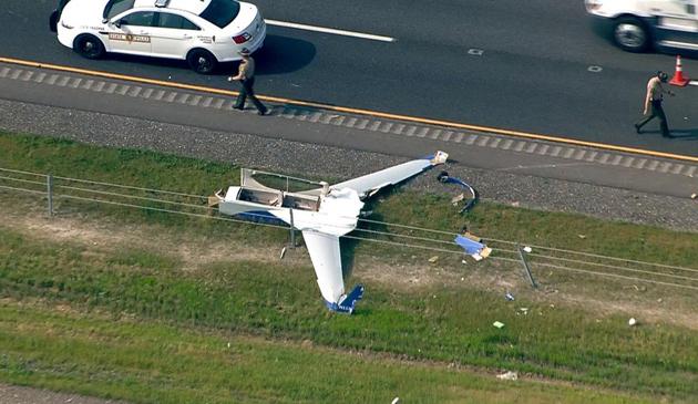 Illinois: Mały samolot rozbił się na autostradzie I-88