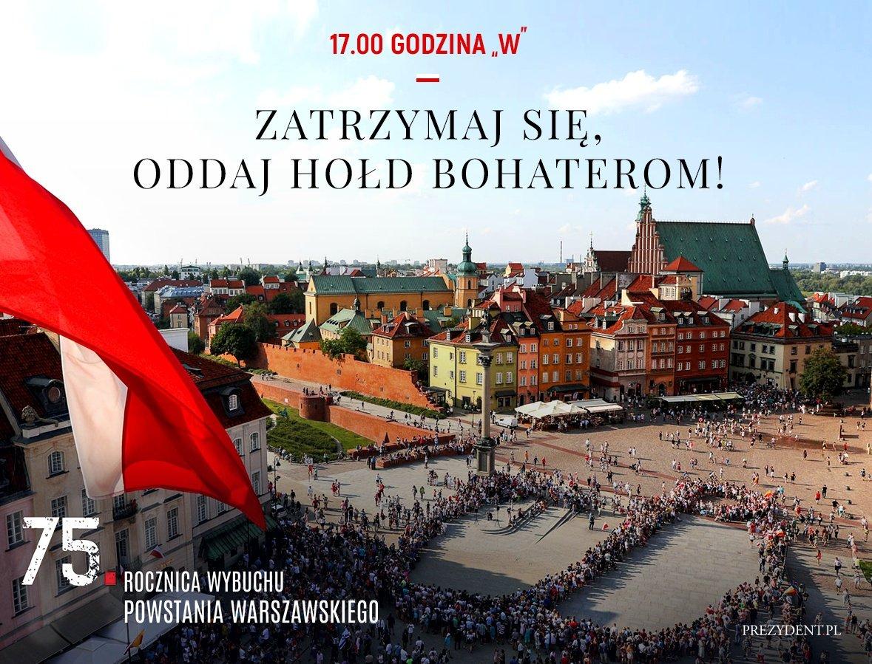 75. rocznica wybuchu Powstania Warszawskiego: Warszawa walczyła o wolność całej Polski