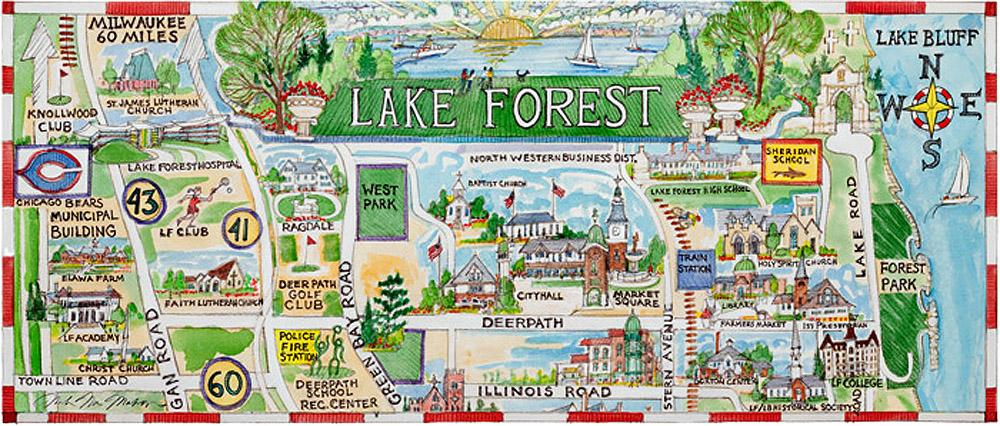 Mieszkańcy Lake Forest mają najwyższy dochód na rodzinę w Illinois