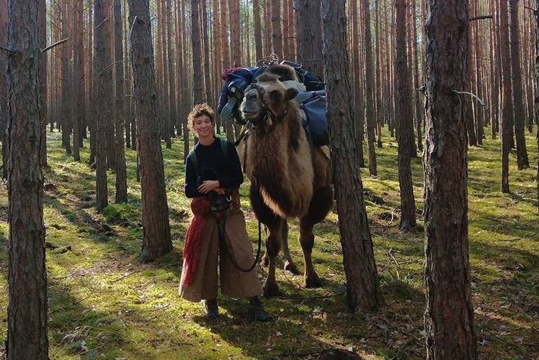 Francuzka idzie z wielbłądem przez Europę. Wchodzi do Wielkopolski
