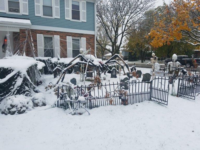 Rekordowe opady śniegu pod koniec października